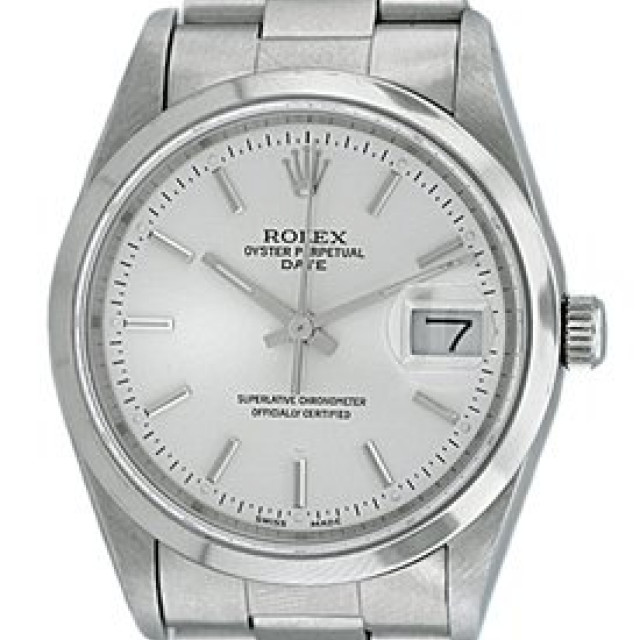 Rolex Date 15200 Steel Silver Dial 1991