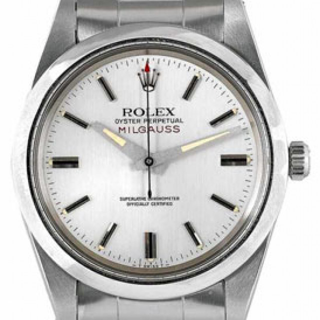 Vintage Rolex Milgauss 1019 Steel with Silver Dial