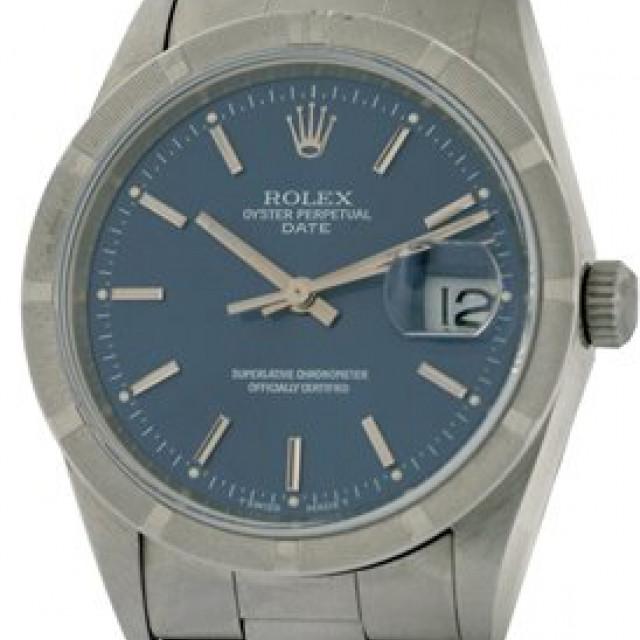 Rolex Date 15210 Steel Blue 1994