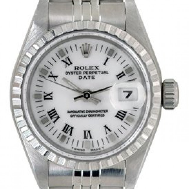Rolex Date 69240 Steel White 1997