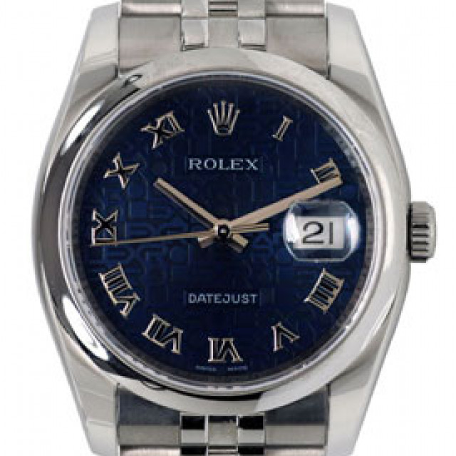 Rolex Datejust 116200 Steel with Blue Dial & Roman Markers
