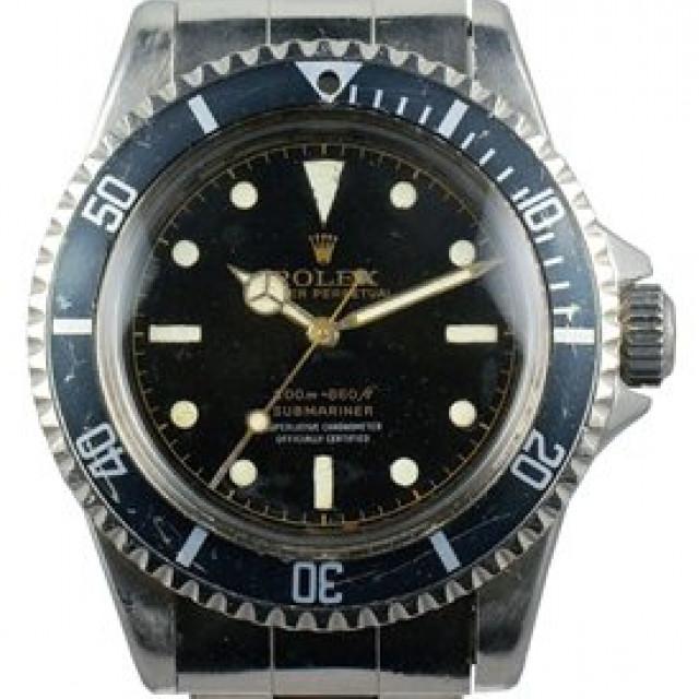 Vintage Rolex Submariner 5512 Steel with Black Dial