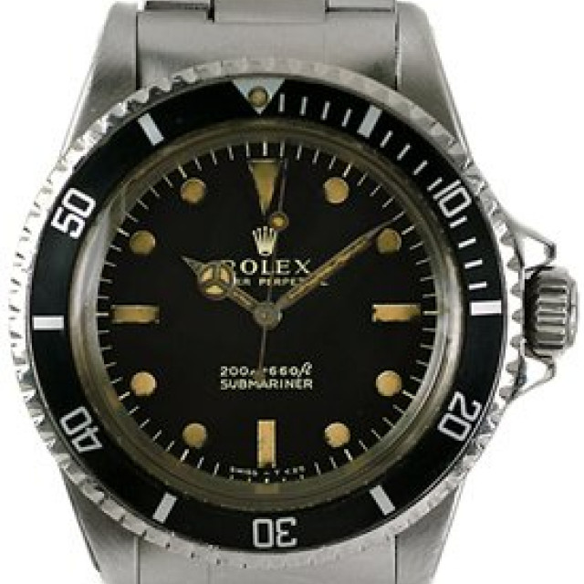 Vintage Rolex Submariner 5513 Steel with Black Dial 1962