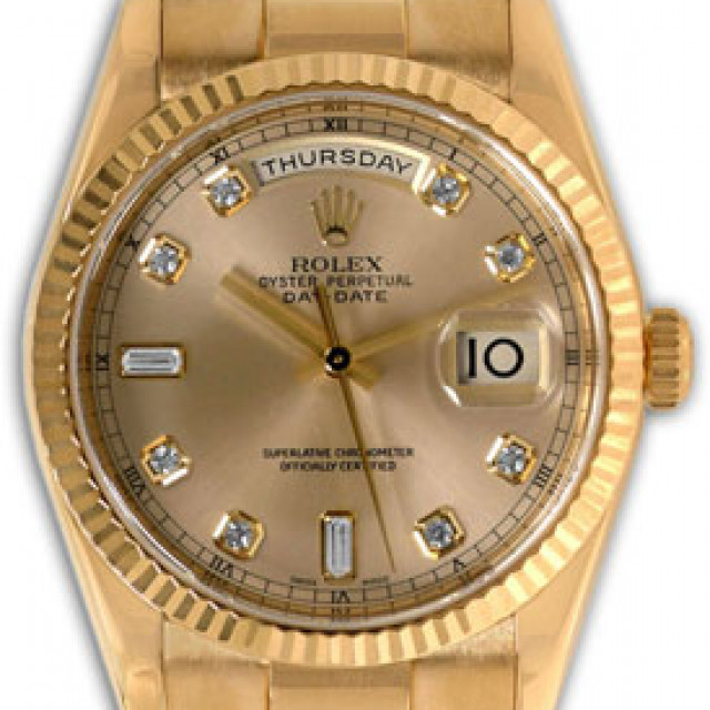 Pre-Owned Diamond Rolex Day-Date 118238