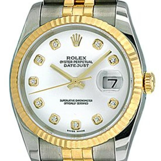 White Diamond Dial Rolex Datejust 116233