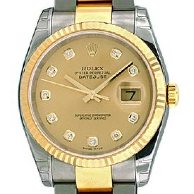Champagne Diamond Dial Rolex Datejust 116233