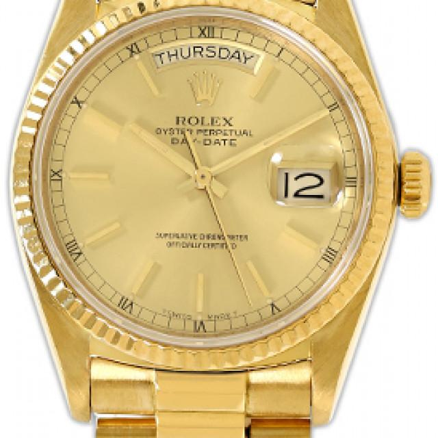 Rolex Day-Date 18038 Gold Champagne 1985