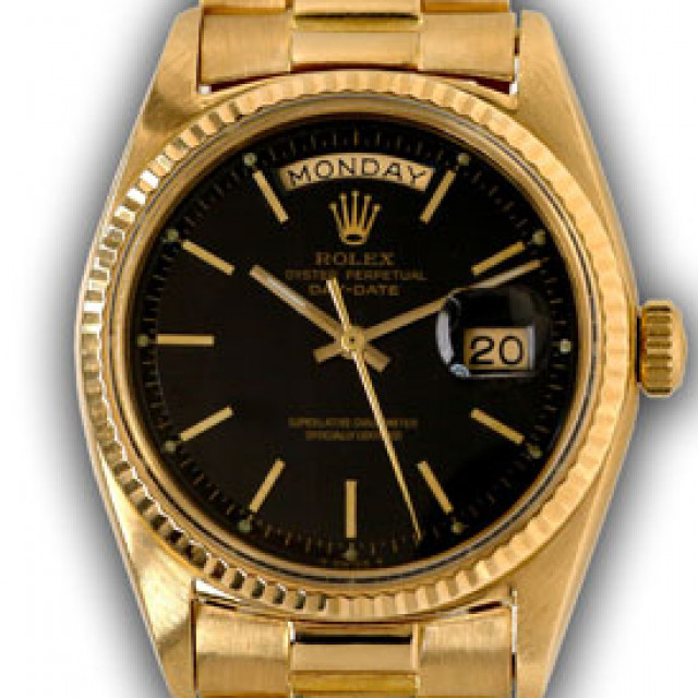 Vintage Rolex Day-Date 1803 Gold Year 1967 with Black Dial 1967
