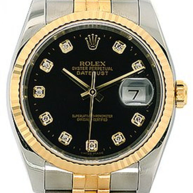 Rolex Datejust 116233 with Diamonds on Black Dial