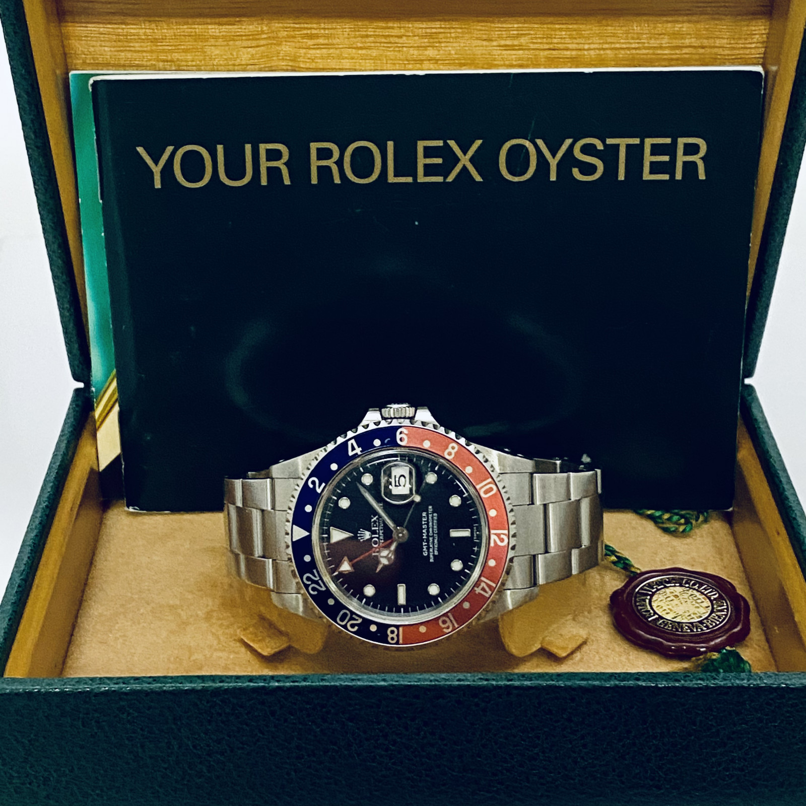 1999 Last Year of Production Black Rolex GMT-Master II Ref. 16700