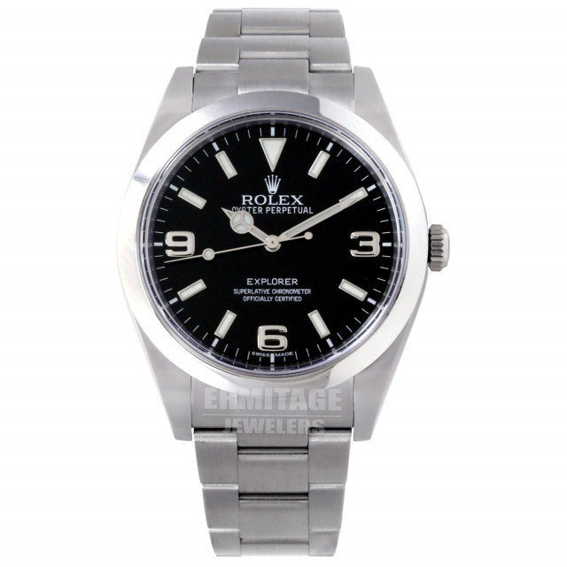 2016 Rolex Explorer Ref. 214270 Stainless Steel Black