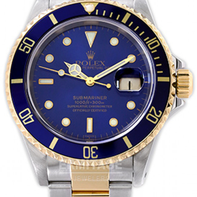 "Rolex Submariner 16613 Gold & Steel 1999 Single ""Swiss"" Dial"
