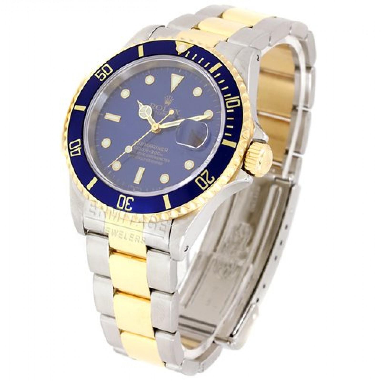 Rolex Submariner 16613 Gold & Steel 1999 Single