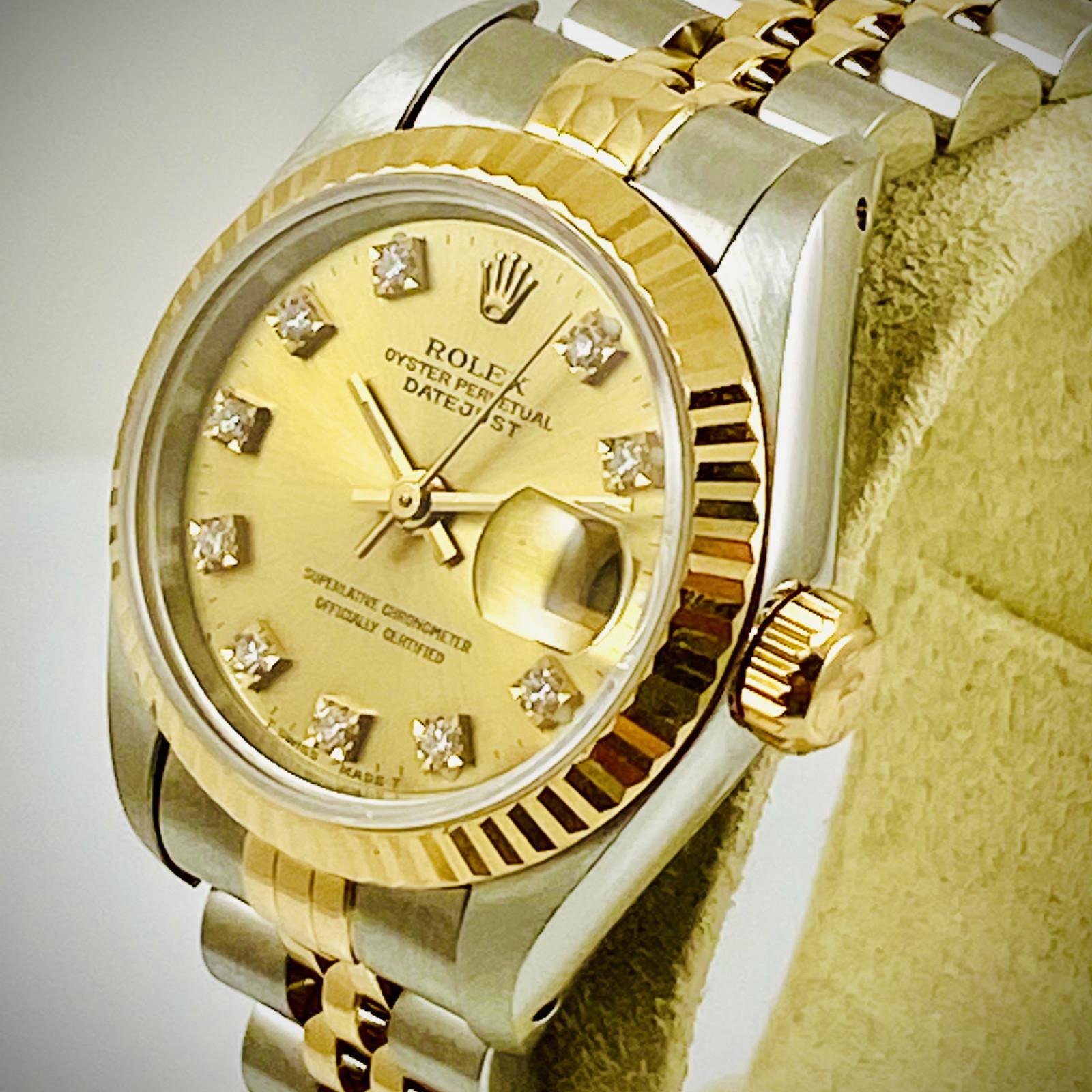 Ladies Rolex Datejust 69173 18kt Yellow Gold
