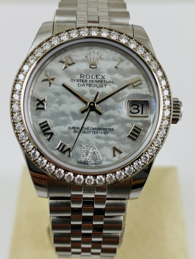 Rolex Mid-Size Ladies Diamond Watch 178384 Unworn 2020