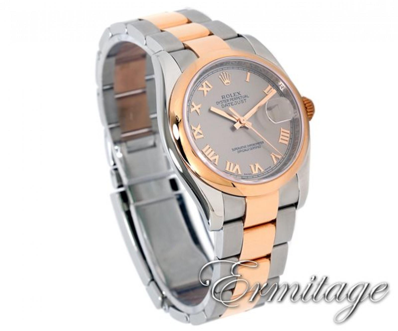 Rolex Datejust 116201 Gold & Steel Dark Grey