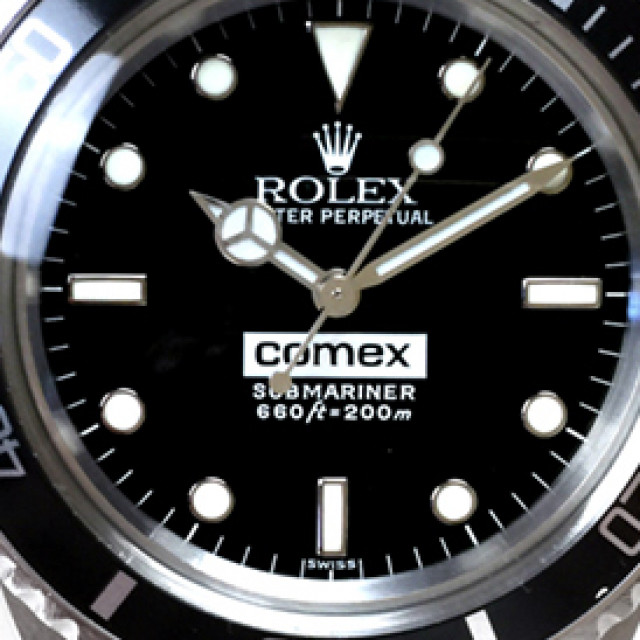Rolex 5514 Steel on Oyster Black with Luminous Dots on Steel