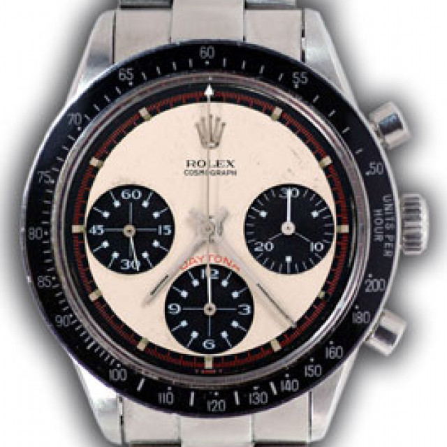 Rolex 6241 Steel on Oyster, Black Bezel White, Black & Red with Index & Luminous