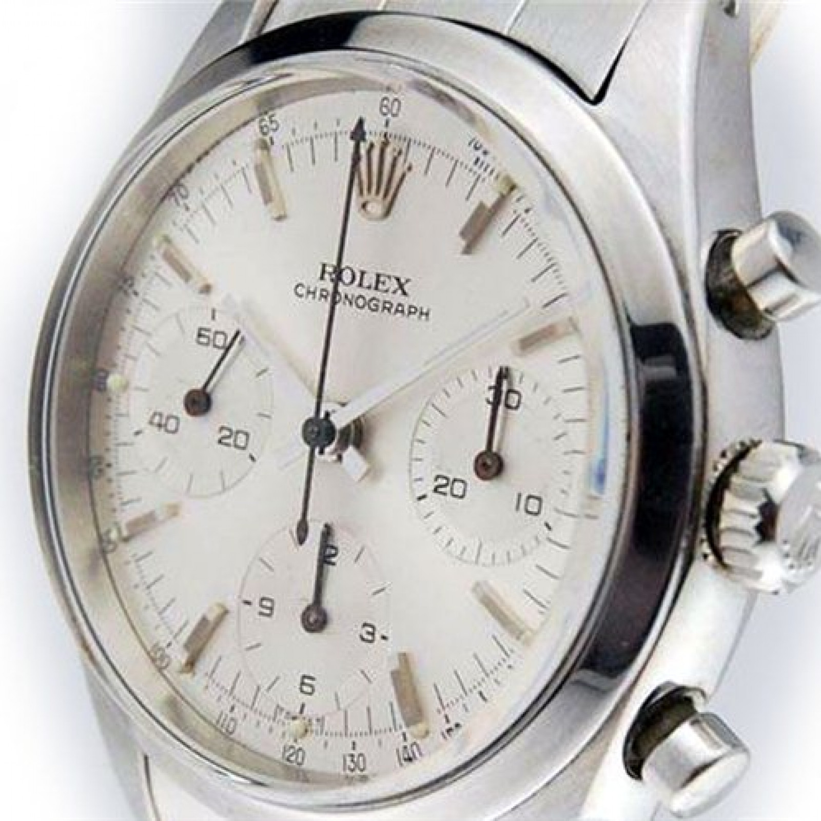 Vintage Rolex Chronograph 6238 Steel with Silver Dial