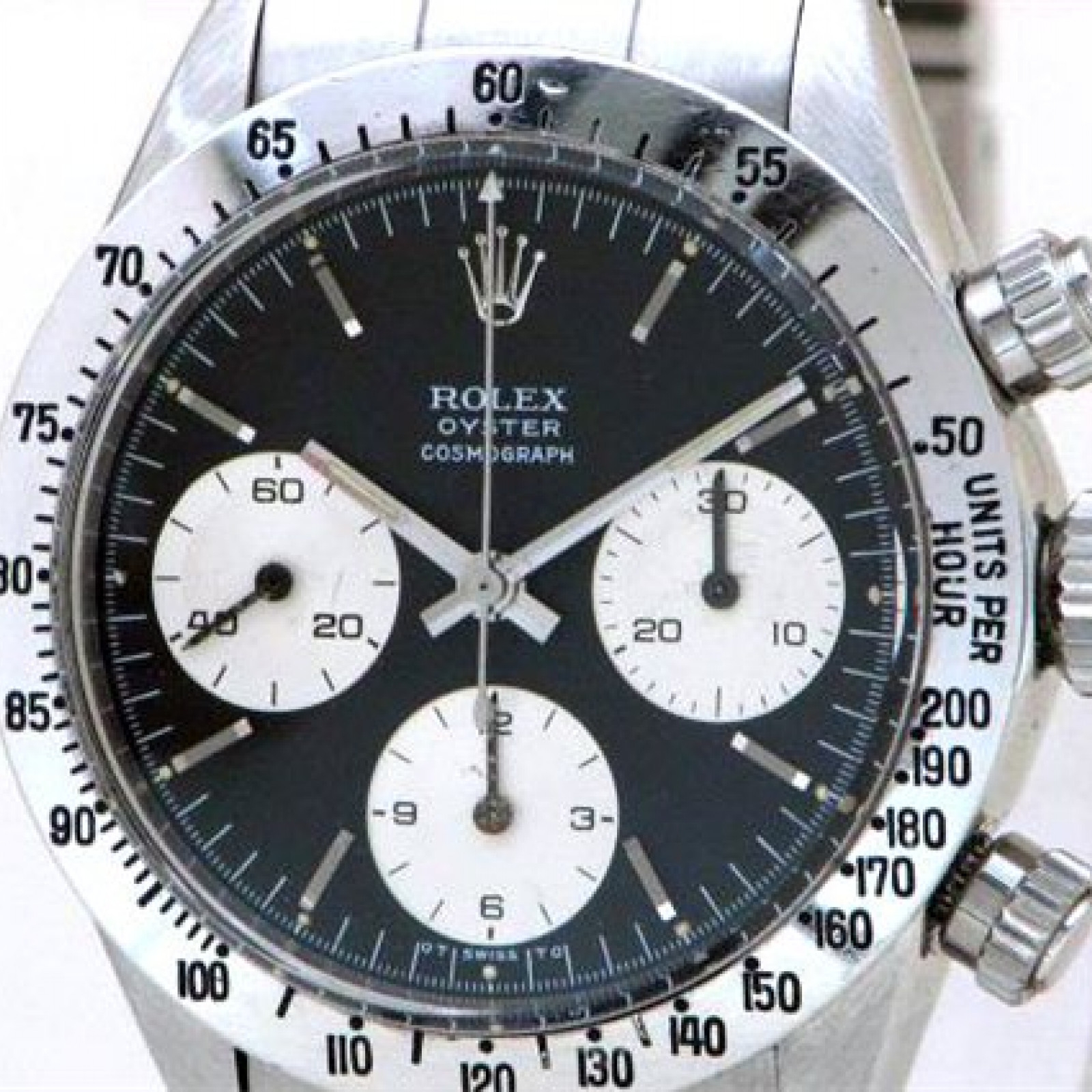 Vintage Rolex Chronograph 6265 Steel with Black Dial