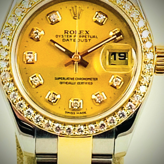 Champagne Diamond Dial Rolex Datejust 179163