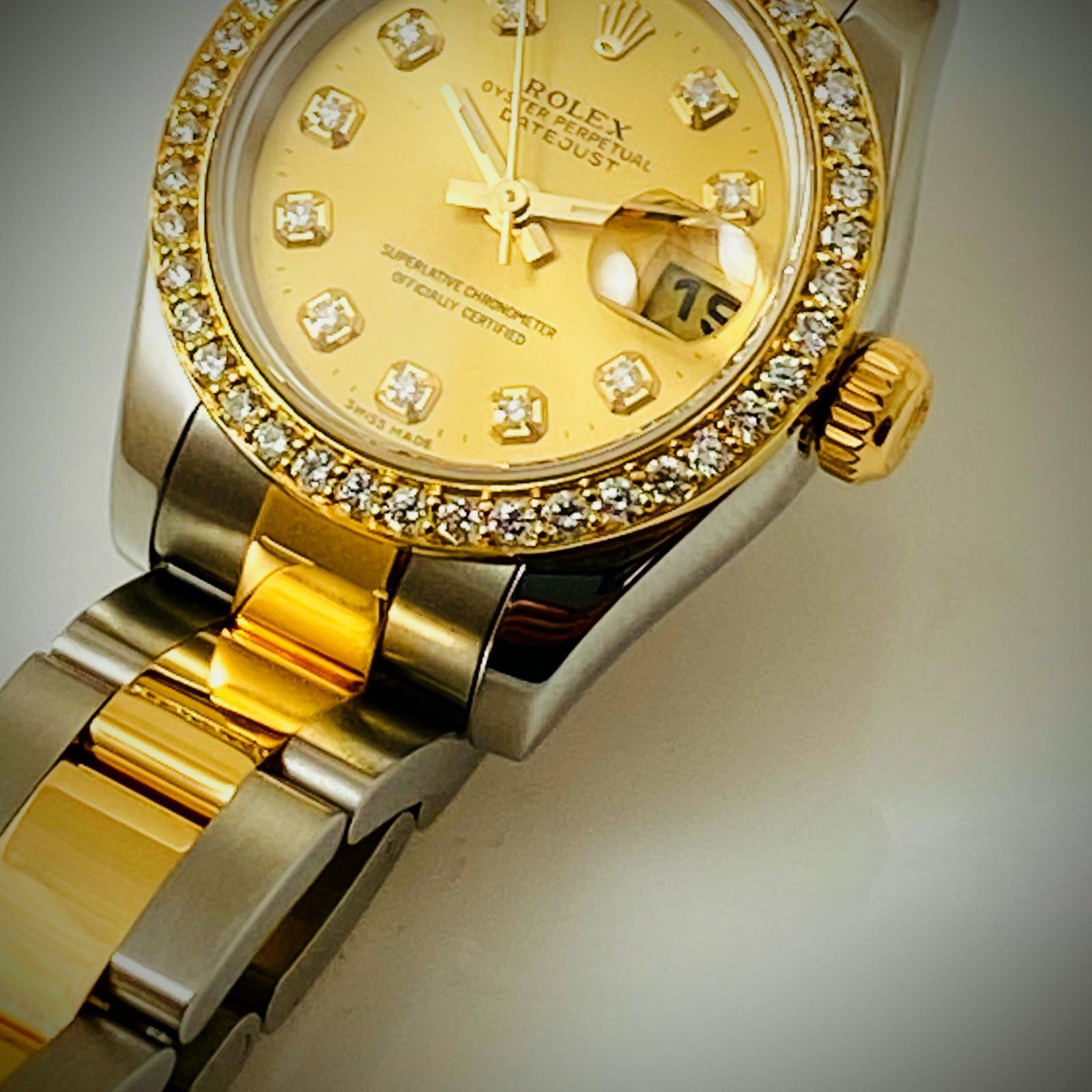 Champagne Diamond Dial Rolex Datejust 179163