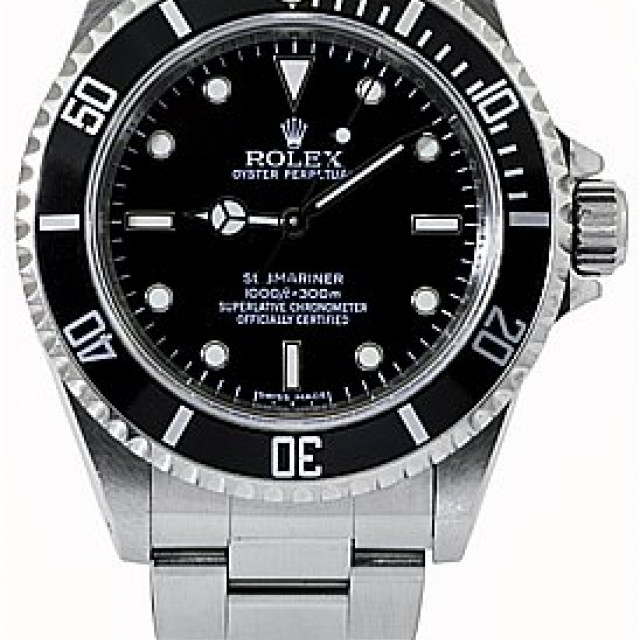 2009 Rolex Submariner No Date Ref. 14060 4 Lines Dial
