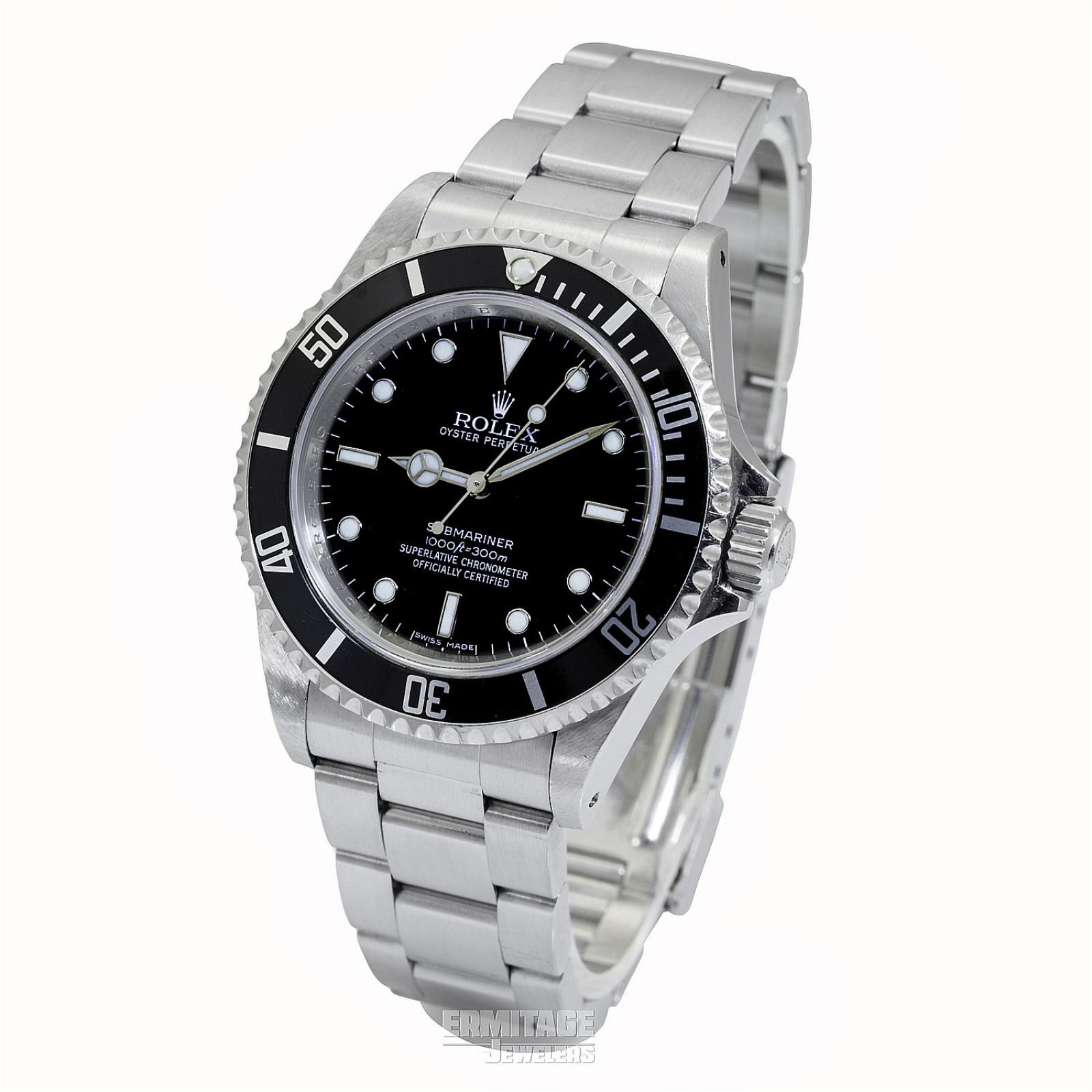 2009 Rolex Submariner No Date Ref. 14060 4 Lines Dial