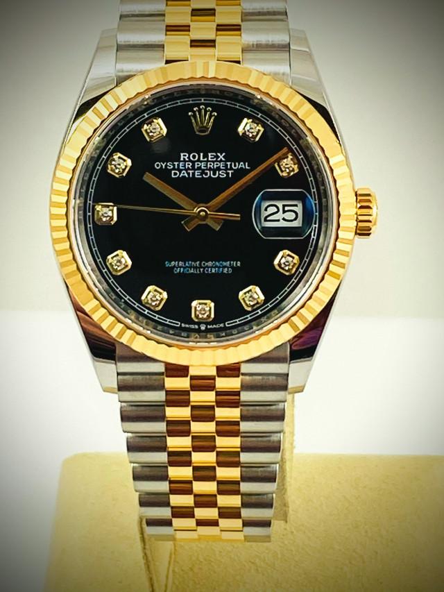 Unworn Diamond Rolex Datejust 126233 Yellow Gold & Steel