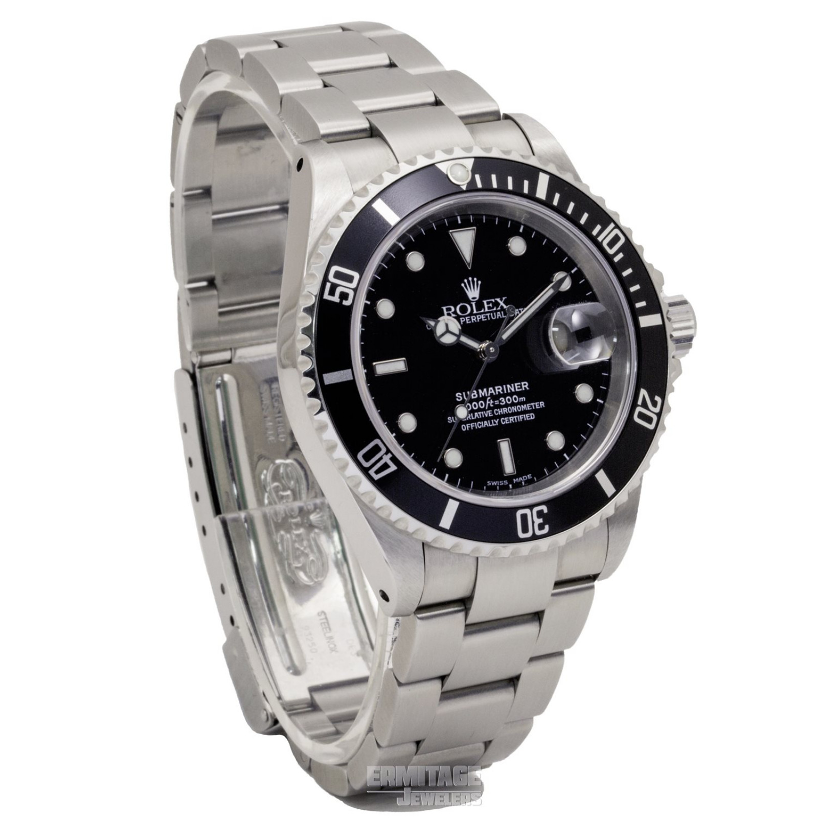 Pre owned Steel  Rolex Submariner 16610 40 mm