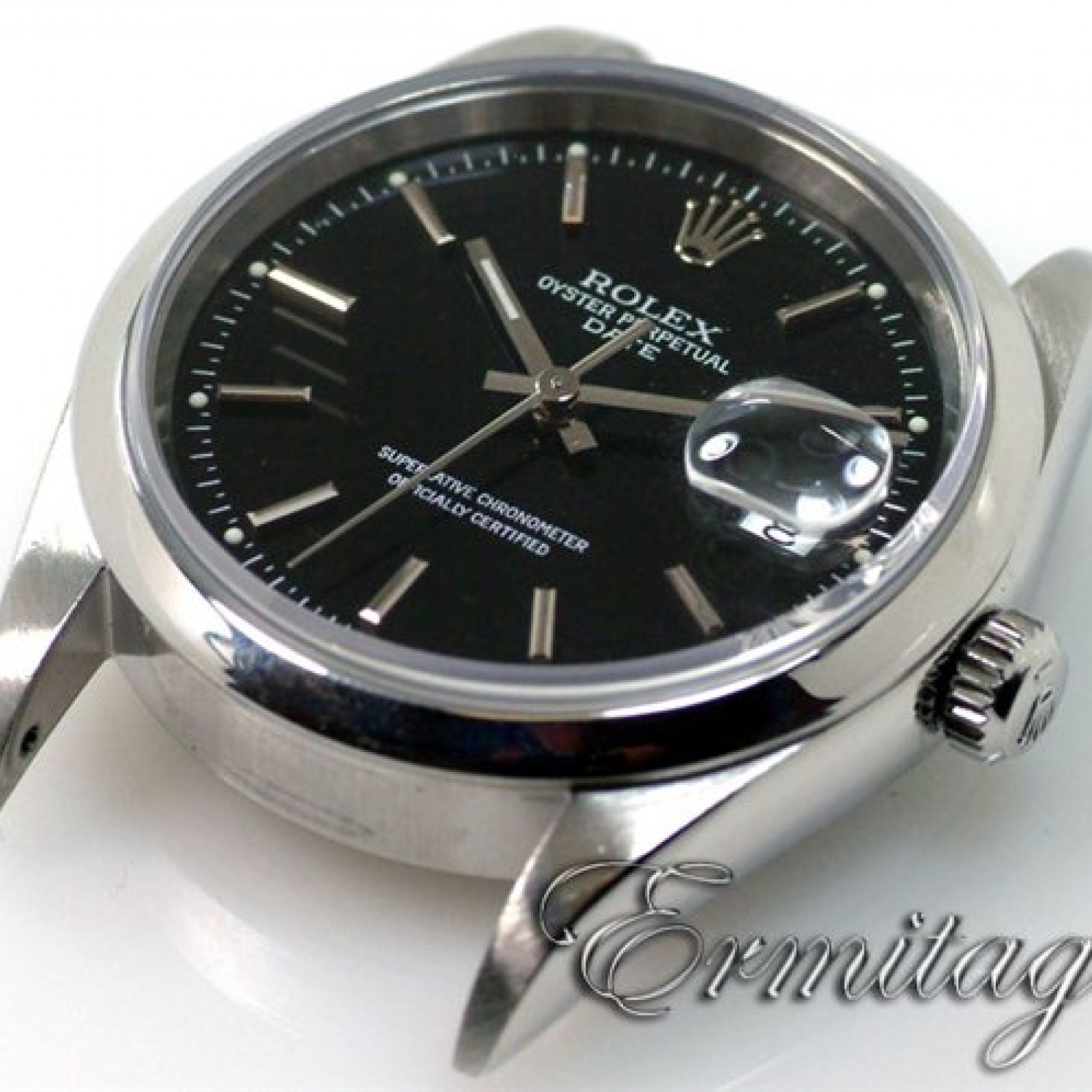 Rolex Date 15200 Steel Black 2000 Full Set