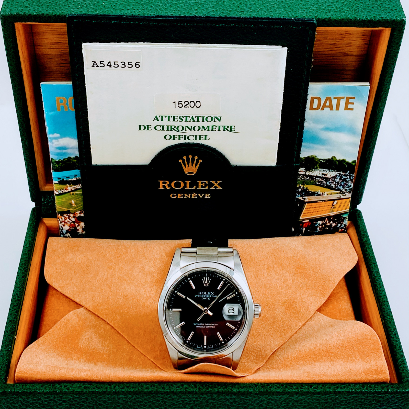 Rolex Date 15200 Steel Black 2000 Full Set
