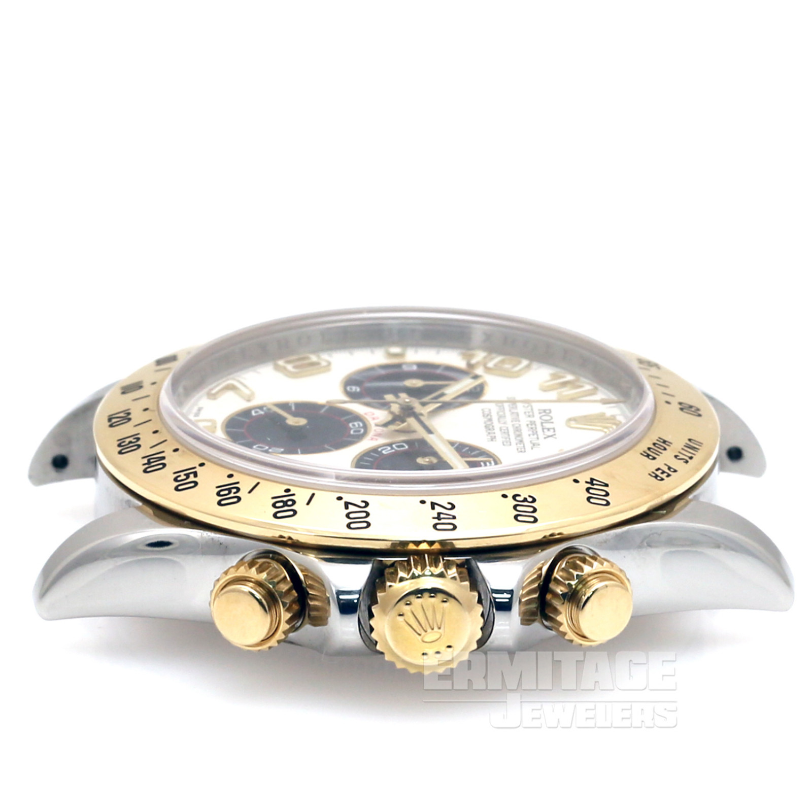 40 mm Rolex Daytona 116523 Gold & Steel on Oyster with White Panda Dial