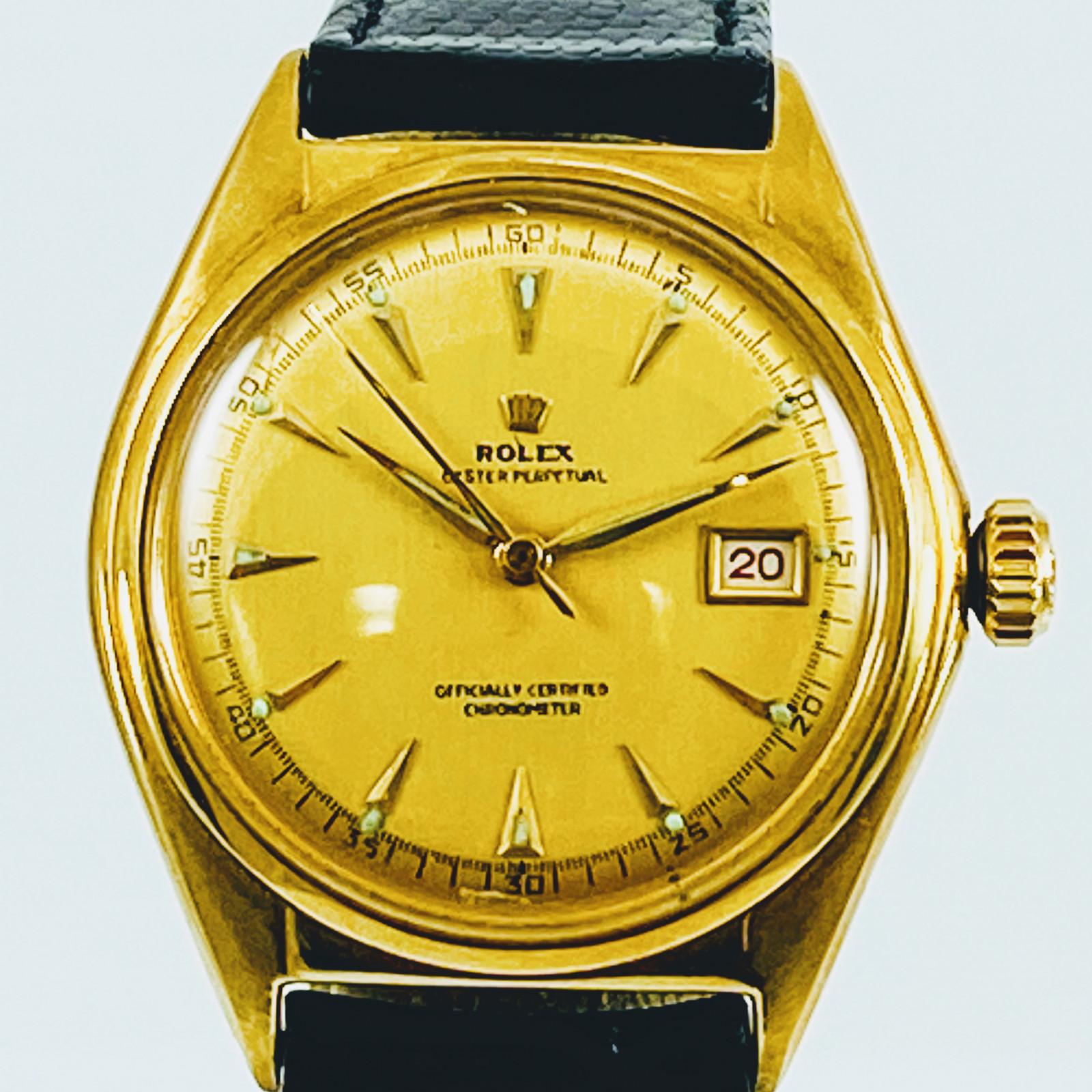 Vintage Rolex 5030 Bubbleback 18KT Gold 1955