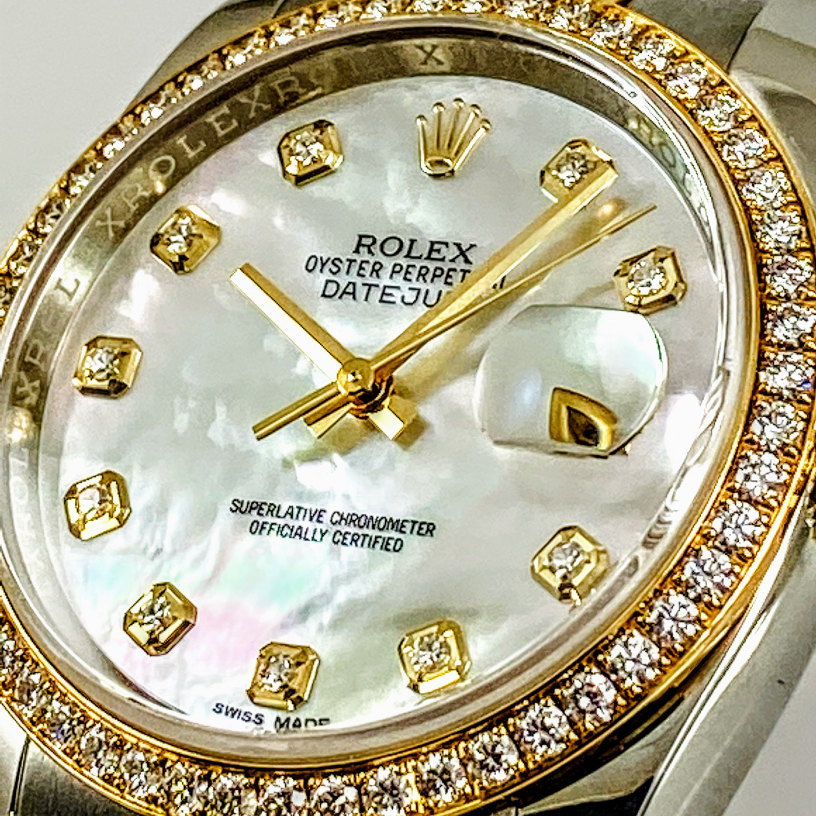 Rolex 116243 Diamond Datejust Certified Factory