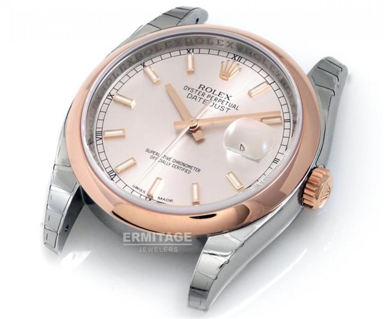 Rolex Datejust 116201 Gold & Steel Silver