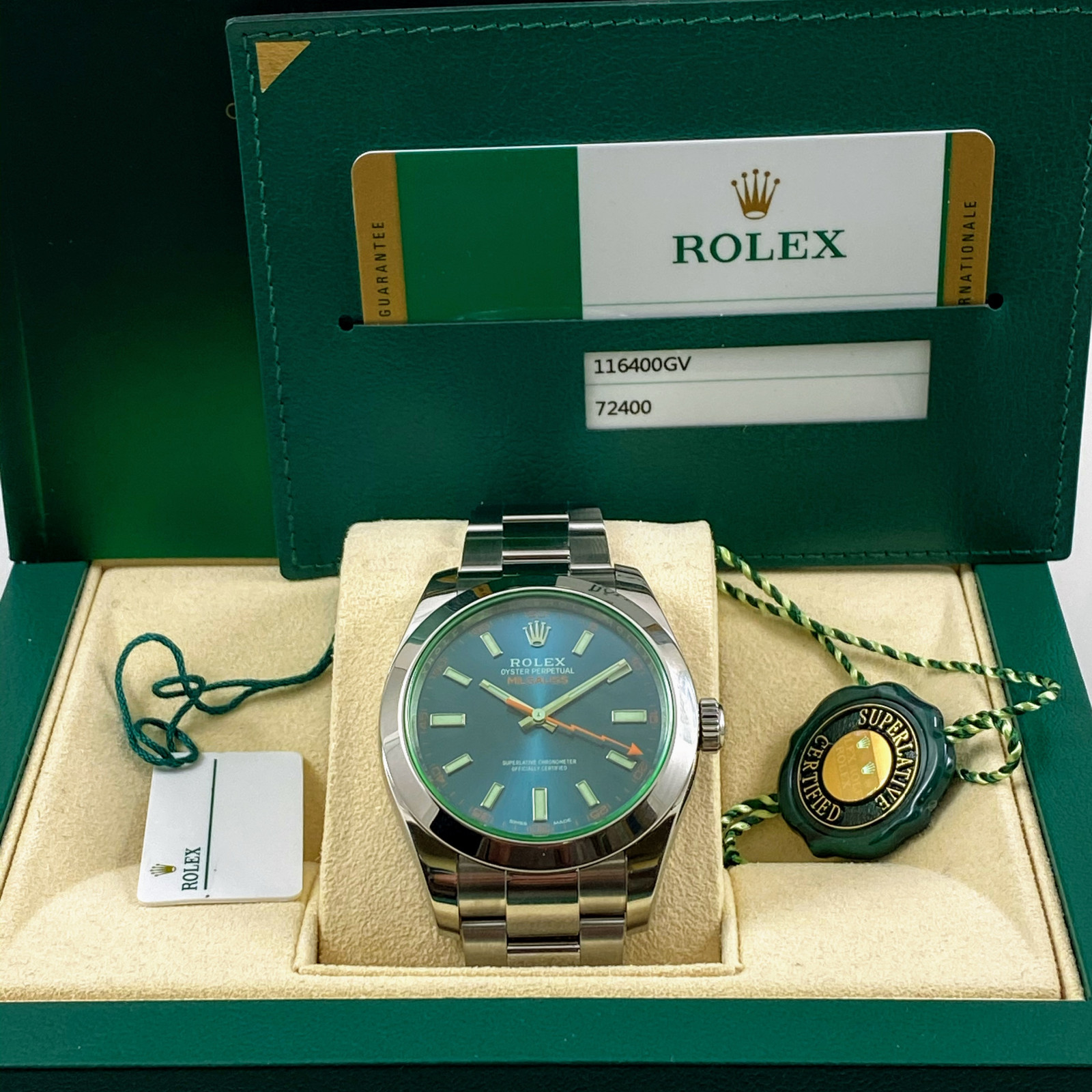 Rolex Milgauss 116400GV 2018 Mint Condition