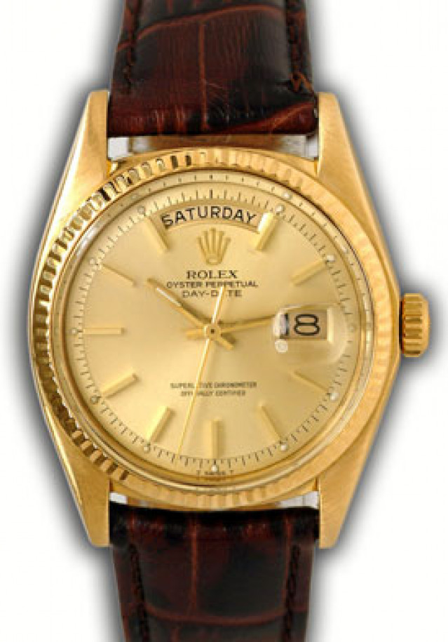 Vintage Rolex Day-Date 1803 Gold Year 1974 1974 with Black Dial