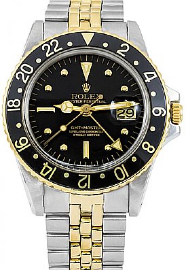 Rolex 1675 Yellow Gold & Steel on Jubilee, Fluted Bezel Black