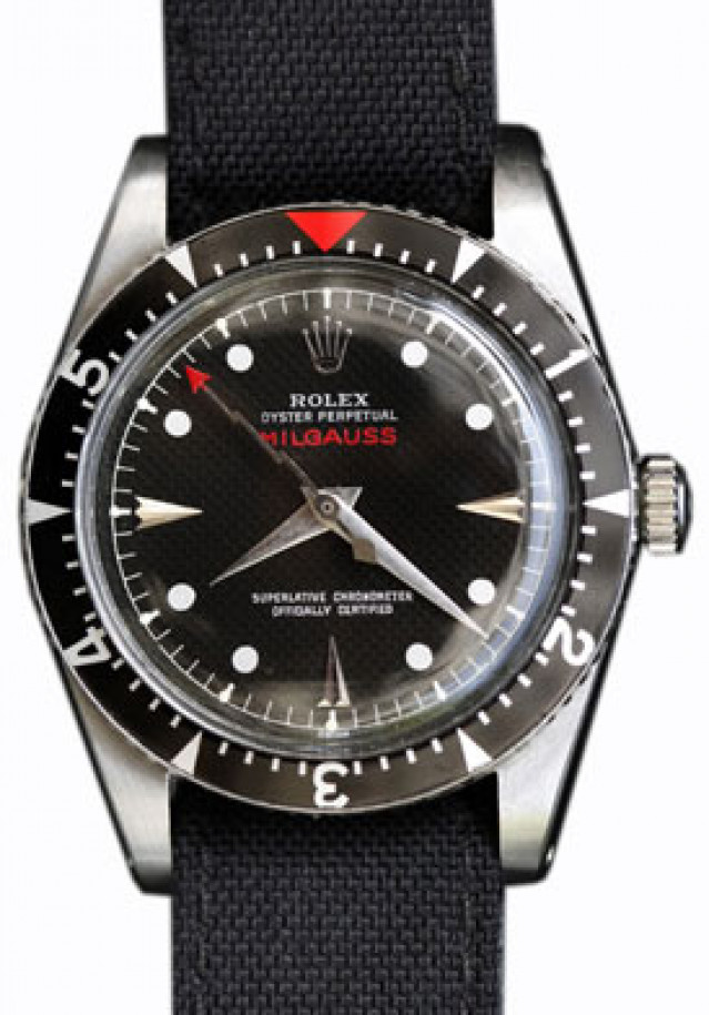 Vintage Rolex Milgauss 6541 Steel with Black Dial