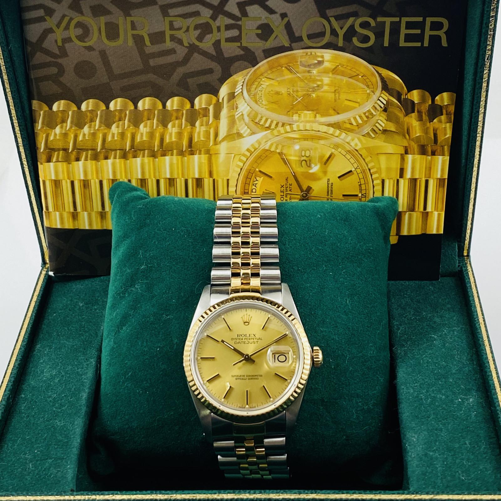 Rolex Datejust 16013 18 KT Gold & Steel