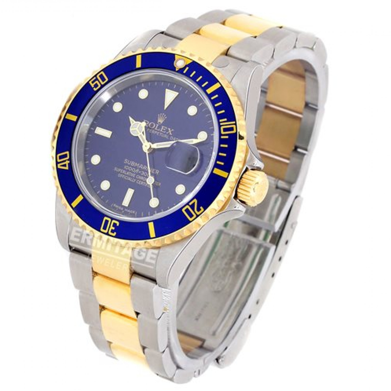 Blue Rolex Submariner 16613  2006 Unworn