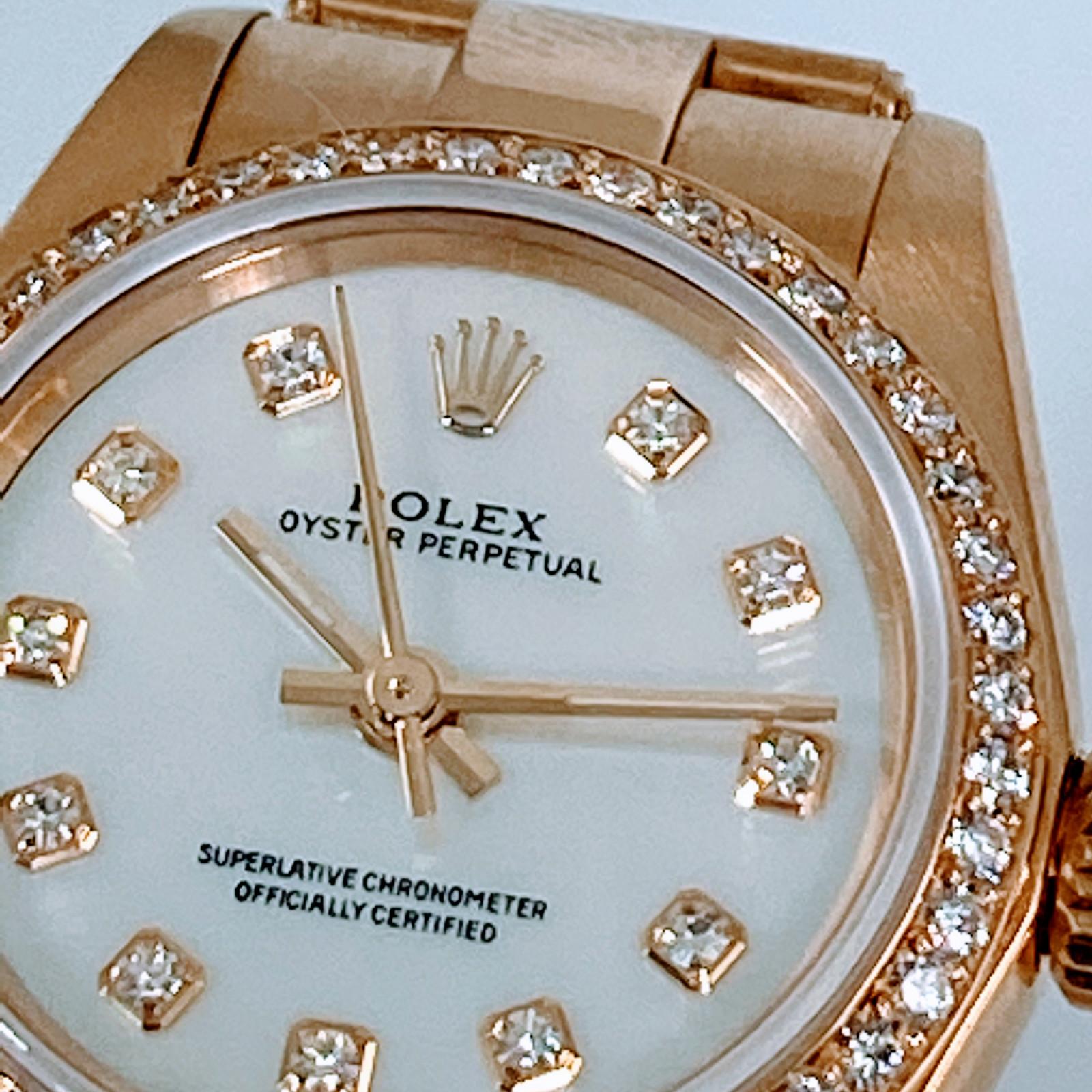 Rolex Diamond Oyster Perpetual Model 67188