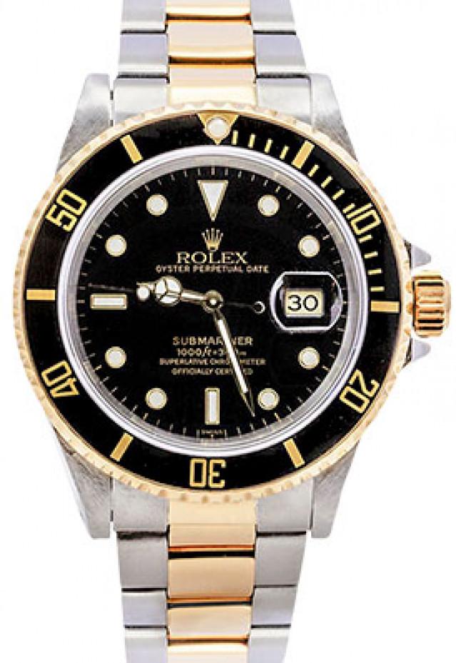 "Rolex 16613 Black Dial Excellent Condition Single ""Swiss"" Dial"