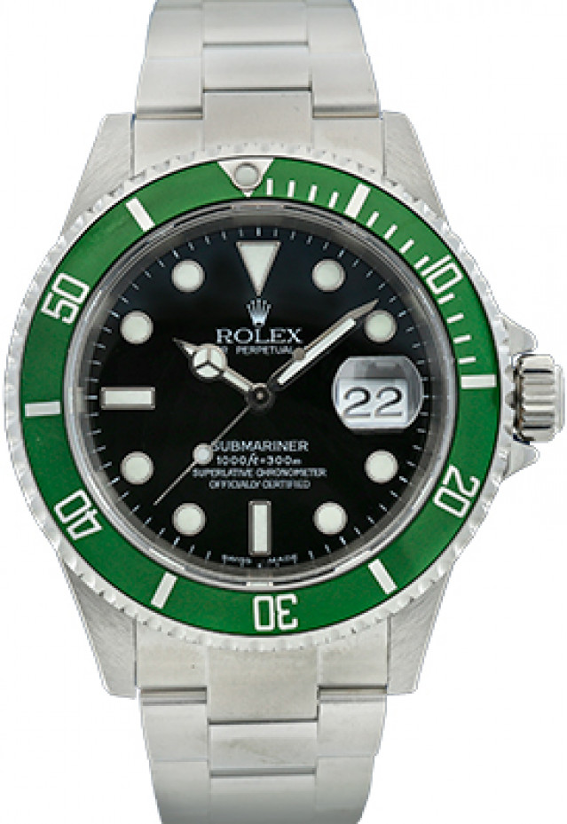"""Rolex 16610LV Anniversary Submariner """"Kermit"""""""
