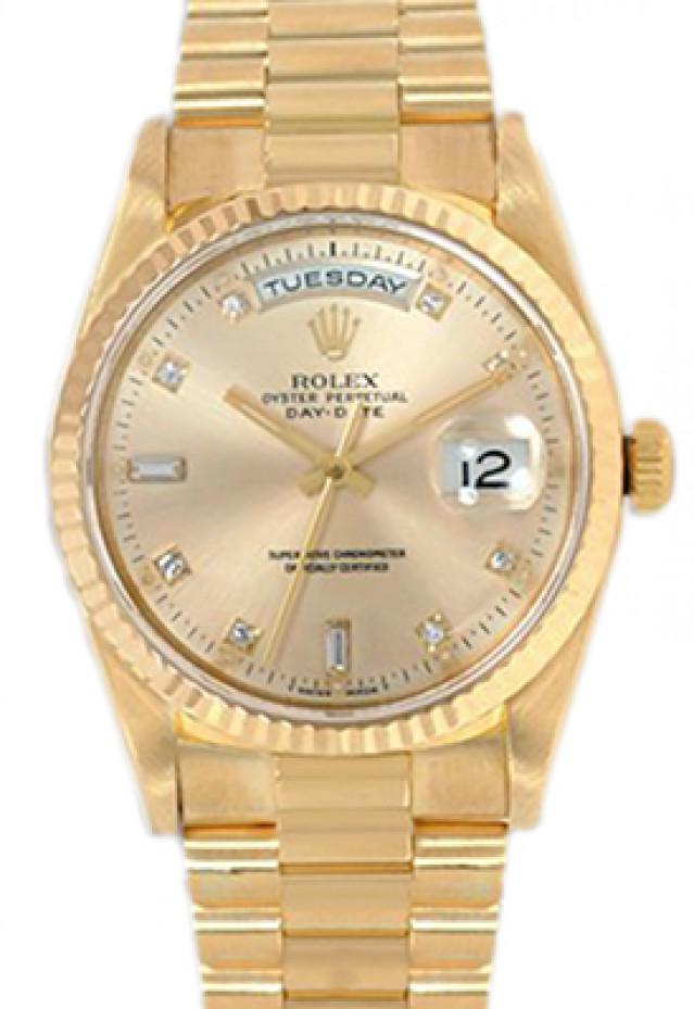 Rolex Day-Date 18238 Diamond Dial Full Set
