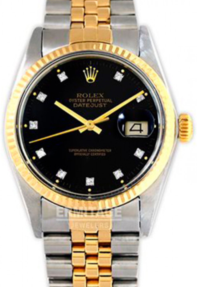 Rolex Datejust 16013 Black Diamond Dial