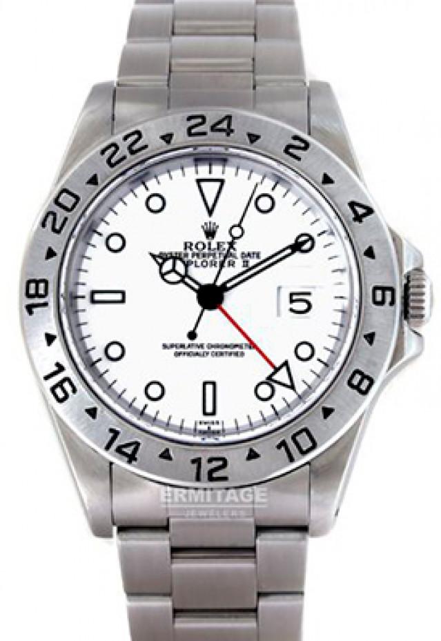 "1999 Rolex Explorer II 16570  Polar Single 'Swiss"" Dial Full Set"