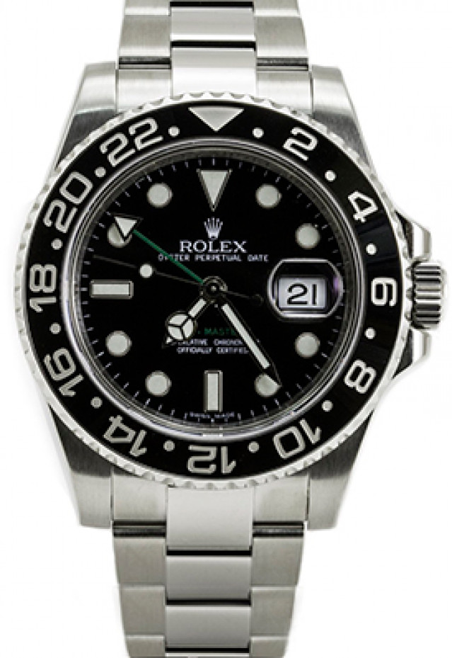 Stainless Steel Rolex GMT-Master II 116710 40 mm