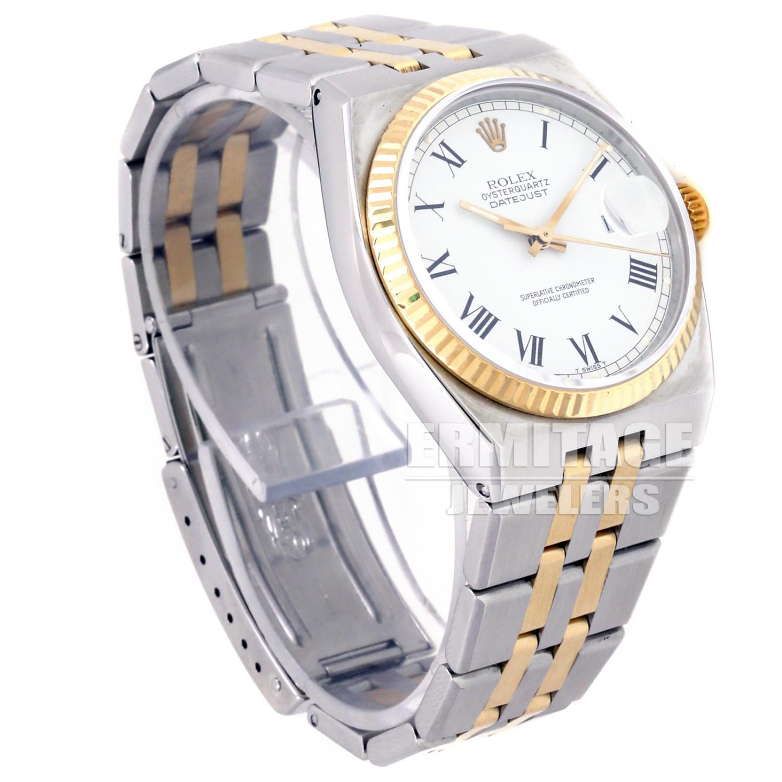Rolex Datejust Oysterquartz 17013 18 KT & Steel